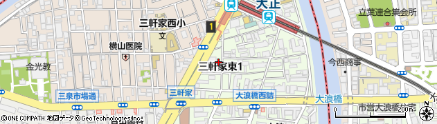 こいずみ鍼灸整骨院大正周辺の地図