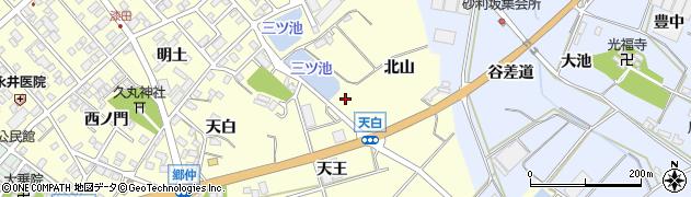 愛知県田原市神戸町(天白)周辺の地図