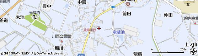愛知県田原市豊島町(川東)周辺の地図