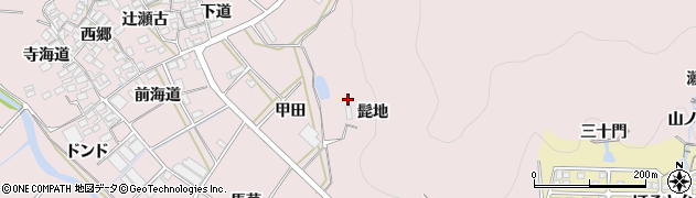 愛知県田原市野田町(髭地)周辺の地図