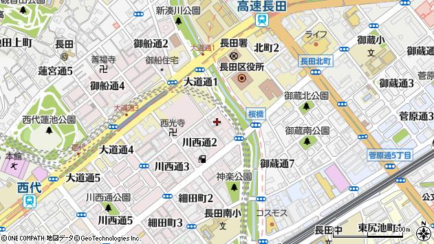 〒653-0834 兵庫県神戸市長田区川西通の地図