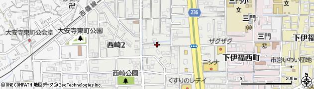 岡山県岡山市北区西崎周辺の地図