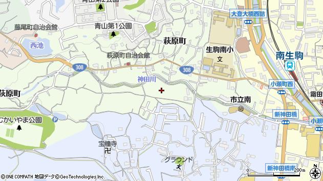 〒630-0234 奈良県生駒市萩原町の地図
