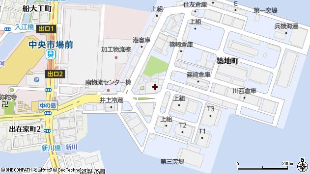 〒652-0845 兵庫県神戸市兵庫区築地町の地図