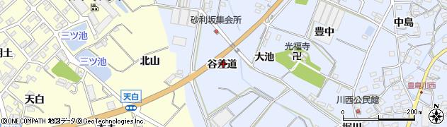 愛知県田原市豊島町(谷差道)周辺の地図