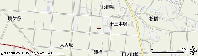 愛知県豊橋市杉山町(姥捨)周辺の地図