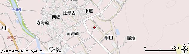 愛知県田原市野田町(甲田)周辺の地図