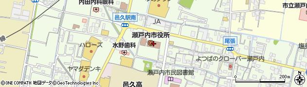 岡山県瀬戸内市周辺の地図