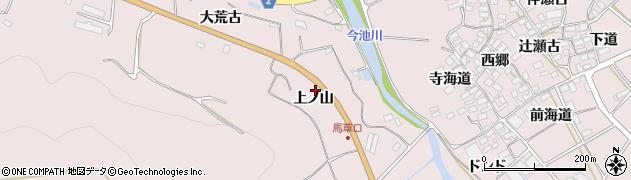 愛知県田原市野田町(上ノ山)周辺の地図