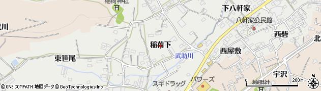 愛知県田原市田原町(稲荷下)周辺の地図