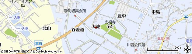 愛知県田原市豊島町(大池)周辺の地図