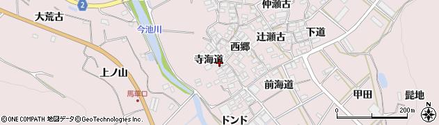 愛知県田原市野田町(寺海道)周辺の地図