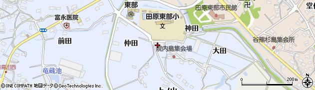 愛知県田原市豊島町(西屋敷)周辺の地図