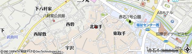 愛知県田原市加治町(北取手)周辺の地図