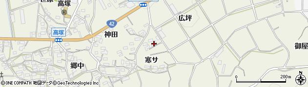愛知県豊橋市高塚町(広坪)周辺の地図