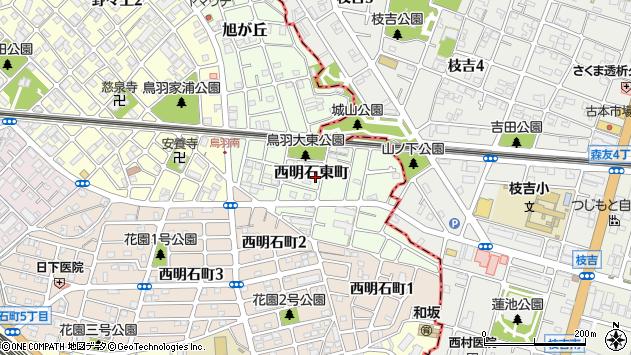 〒673-0009 兵庫県明石市西明石東町の地図