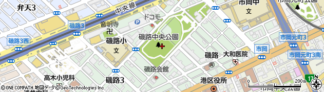 大阪府大阪市港区磯路周辺の地図