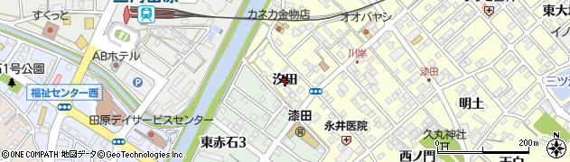 愛知県田原市神戸町(汐田)周辺の地図