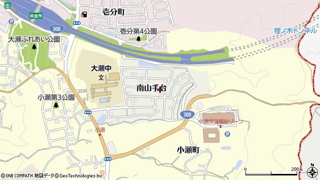 〒630-0228 奈良県生駒市南山手台の地図