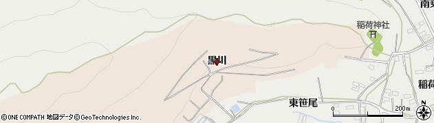 愛知県田原市加治町(黒川)周辺の地図