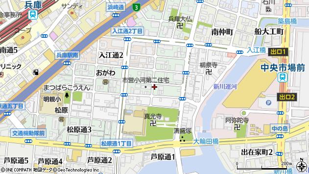 〒652-0895 兵庫県神戸市兵庫区小河通の地図