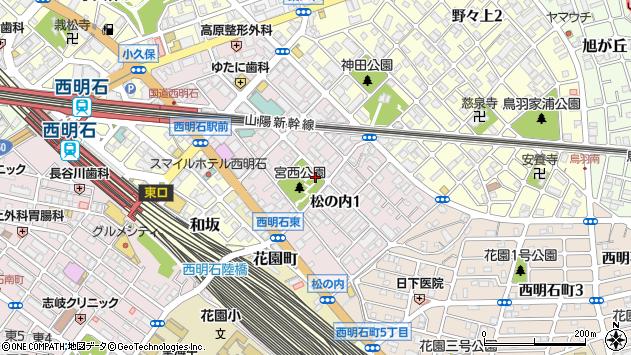 〒673-0016 兵庫県明石市松の内の地図
