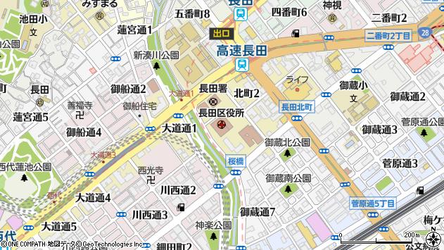 〒653-0000 兵庫県神戸市長田区(以下に掲載がない場合)の地図