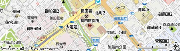 兵庫県神戸市長田区周辺の地図