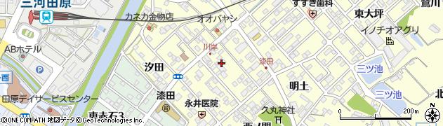 愛知県田原市神戸町(ヤンベ)周辺の地図