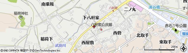 愛知県田原市田原町(八軒家)周辺の地図