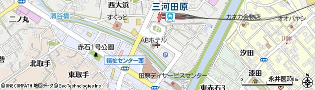 愛知県田原市田原町(長四分)周辺の地図