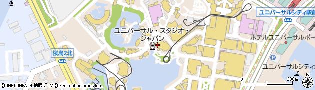 ユニバーサル・スタジオ・ジャパン周辺の地図