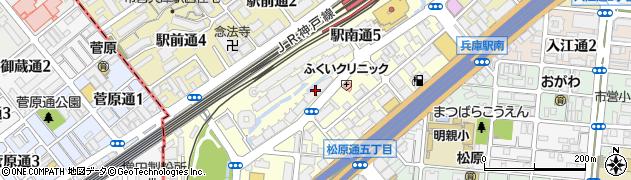 兵庫県神戸市兵庫区駅南通周辺の地図