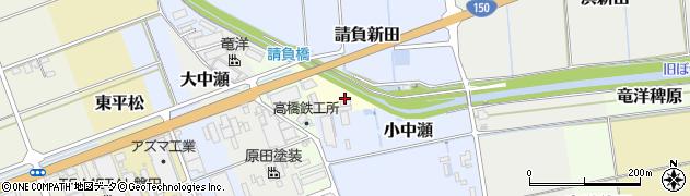 静岡県磐田市清庵浜請負新田周辺の地図