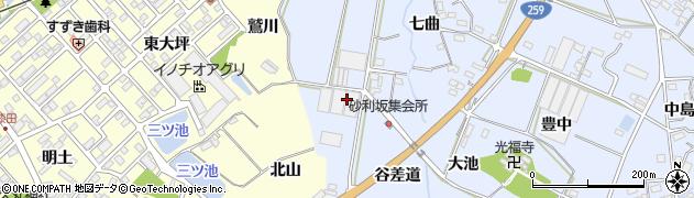 愛知県田原市豊島町(天白)周辺の地図