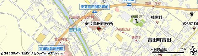 広島県安芸高田市周辺の地図