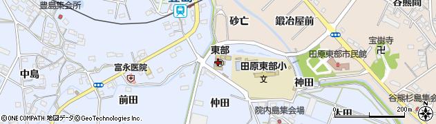 愛知県田原市豊島町(仲田)周辺の地図