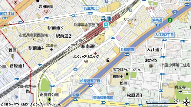 〒652-0897 兵庫県神戸市兵庫区駅南通の地図
