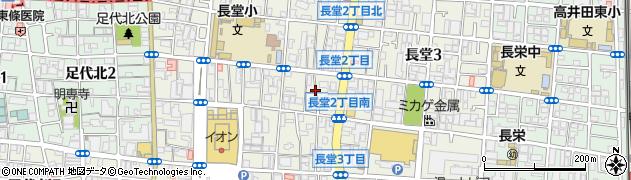 大阪府東大阪市長堂周辺の地図