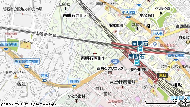 〒673-0049 兵庫県明石市西明石西町の地図