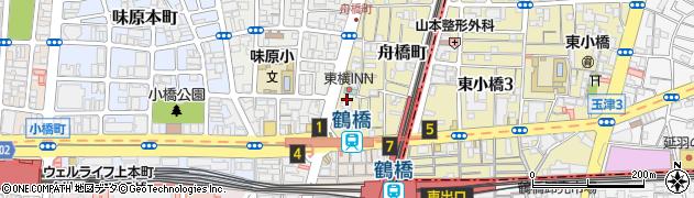 グランスイート天王寺舟橋タワー周辺の地図