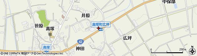 愛知県豊橋市高塚町(井原)周辺の地図