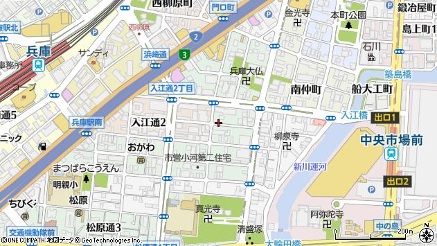 〒652-0893 兵庫県神戸市兵庫区南逆瀬川町の地図