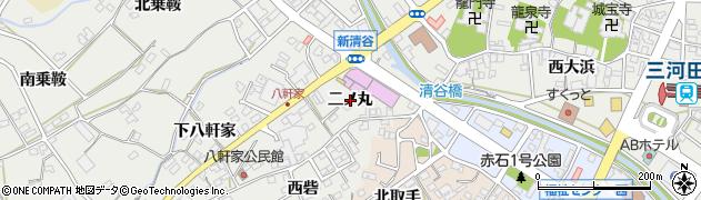 愛知県田原市田原町(二ノ丸)周辺の地図