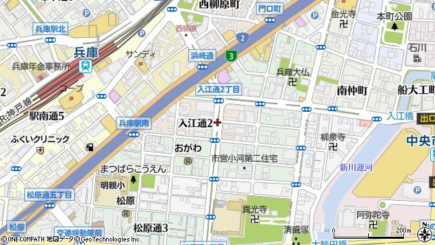 〒652-0894 兵庫県神戸市兵庫区入江通の地図