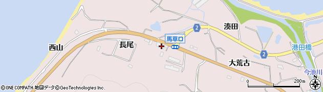 愛知県田原市野田町(長尾)周辺の地図