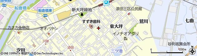 愛知県田原市神戸町(新大坪)周辺の地図