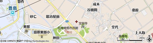 愛知県田原市谷熊町(岡野)周辺の地図
