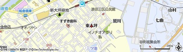 愛知県田原市神戸町(東大坪)周辺の地図