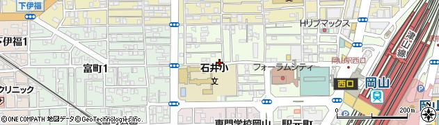 岡山県岡山市北区寿町周辺の地図